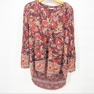 ⚠️ lucky brand floral blouse